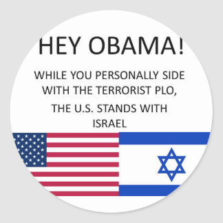 US stands with ISRAEL Classic Round Sticker