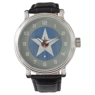 US Star Airplane emblem watch