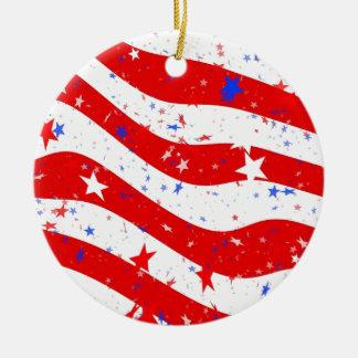 Us Stars And Stripes America Flag American Flag Ceramic Ornament