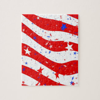 Us Stars And Stripes America Flag American Flag Jigsaw Puzzle