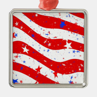 Us Stars And Stripes America Flag American Flag Metal Ornament