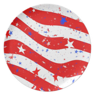 Us Stars And Stripes America Flag American Flag Plate