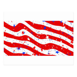Us Stars And Stripes America Flag American Flag Postcard