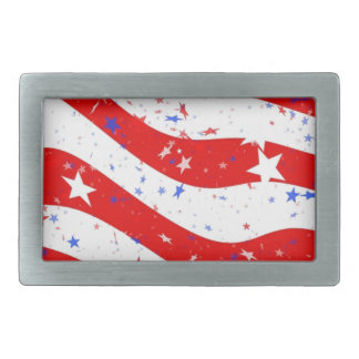 Us Stars And Stripes America Flag American Flag Rectangular Belt Buckles