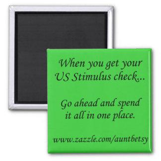 US Stimulus Square Magnet