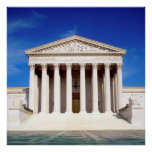 US Supreme Court building, Washington DC, USA Poster