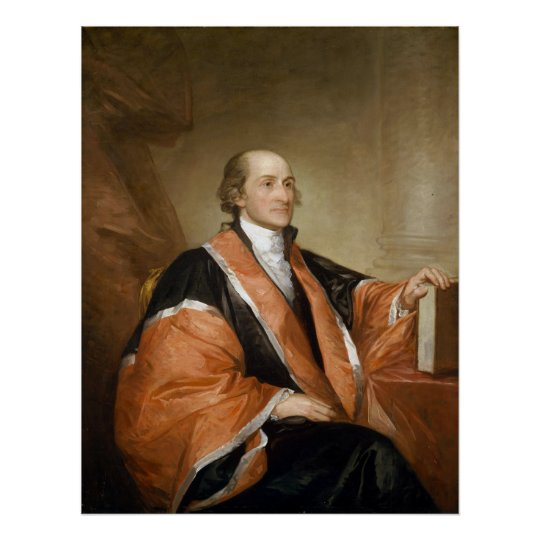 US Supreme Court Justice John Jay by Gill Stuart Poster