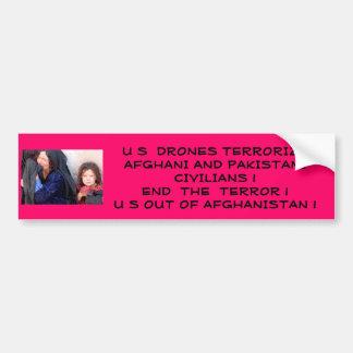 US Terrorizes Afghani Civilians Bumper Sticker
