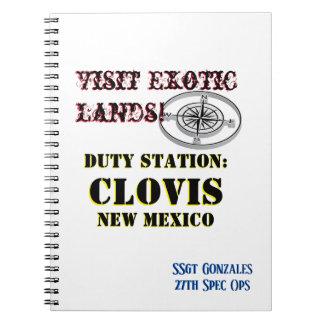 US Tour City Clovis NM add Name Notebook