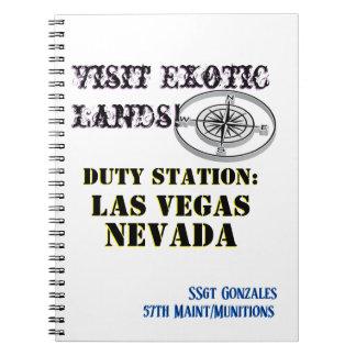 US Tour City Las Vegas NV Name Text Notebook