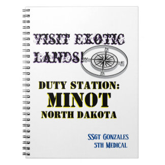 US Tour City Minot with Name Notebook