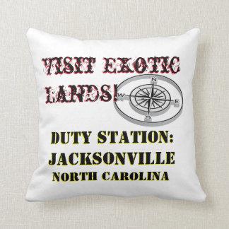 US Tour Jacksonville NC Duty Station Throw Pillow