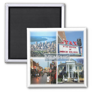 US * U.S.A. Memphis Tennessee Square Magnet