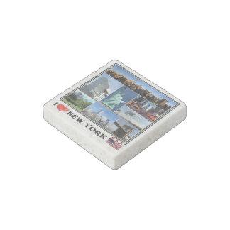 US  U.S.A. - New York - I Love - Mosaic - Stone Magnets