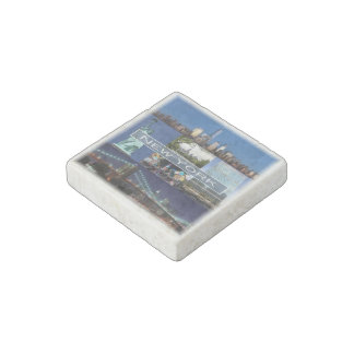US   U.S.A. - New York - Mosaic - Stone Magnets