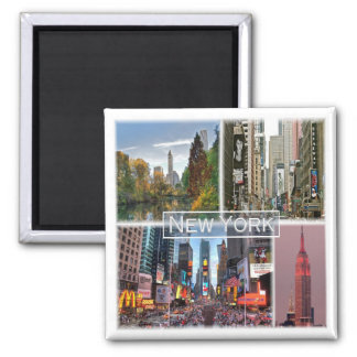 US * U.S.A. - New York Square Magnet