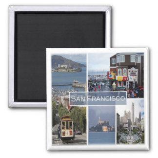 US * U.S.A. San Francisco - California Square Magnet