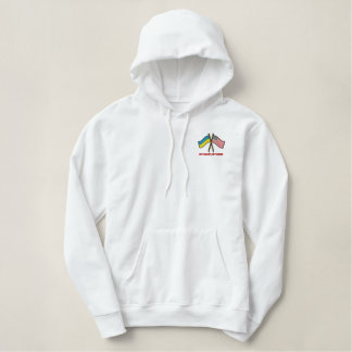 US-Ukraine Dual Flags Embroidered Hoodie