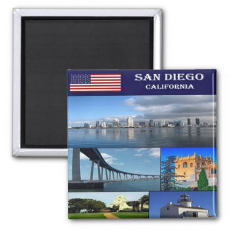 US United States of America - San Diego - Collage Magnet