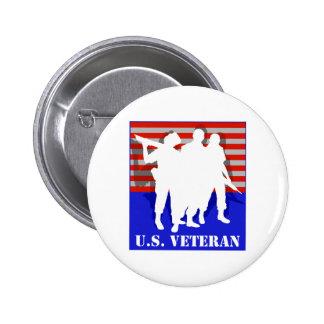 US Veteran 2 Inch Round Button