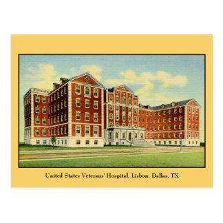US Veterans' Hospital, Lisbon, Dallas, TX Postcard