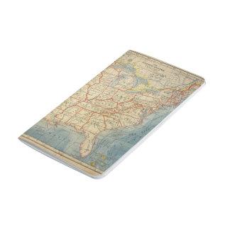 US VIntage Map Retro Travel Journal