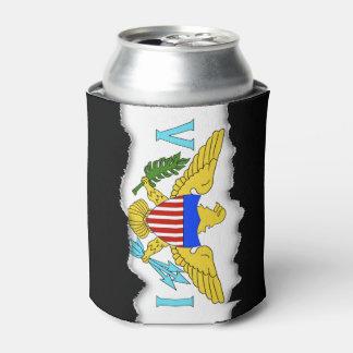 US Virgin Islands flag Can Cooler