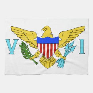 US Virgin Islands flag Kitchen Towel