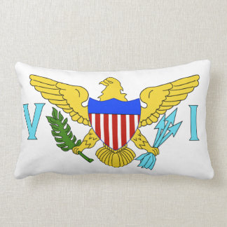 US Virgin Islands flag Lumbar Pillow