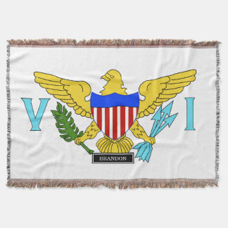 US Virgin Islands flag Throw Blanket