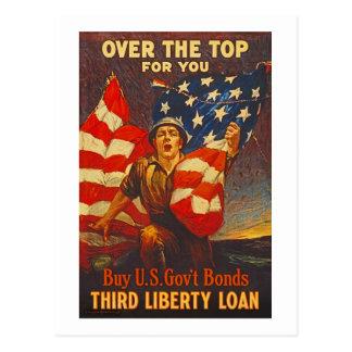 US War Bonds Third Liberty Loan WWI Propaganda Postcard
