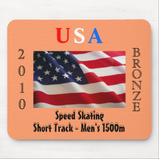 USA 2010 Bronze (Speed Skating) Mouse Pad