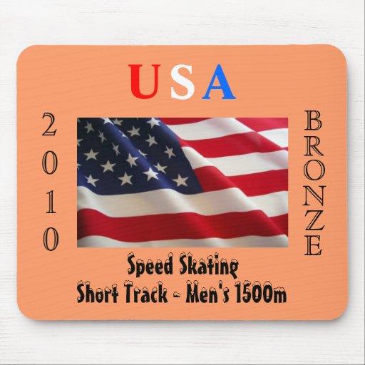 USA 2010 Bronze (Speed Skating) Mousepad