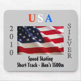 USA 2010 Silver (Speed Skating) Mouse Pad