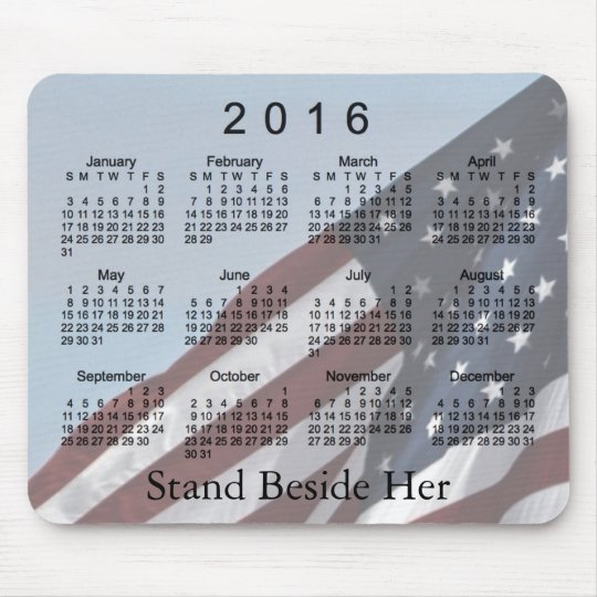 USA 2016 Flag Calendar by Janz Mousepad