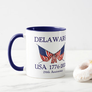 USA 250th Anniversary Delaware DE Mug