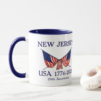 USA 250th Anniversary New Jersey NJ Mug