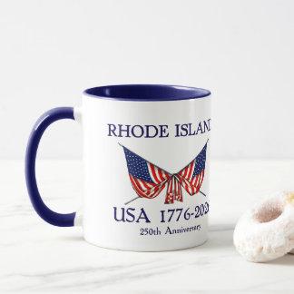 USA 250th Anniversary Rhode Island RI Mug