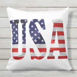 USA Abbreviation Outdoor Pillow