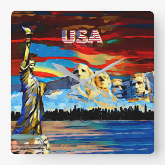 USA Acrylic Wall Clock