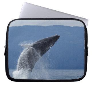 USA, Alaska, Angoon, Humpback Whale (Megaptera Laptop Sleeve