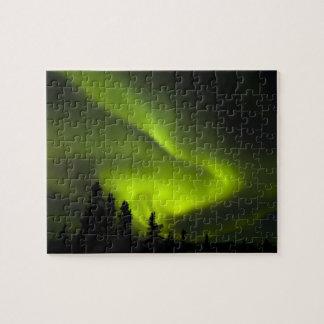 USA, Alaska, Chena Hot Springs. Aurora Borealis 2 Jigsaw Puzzle