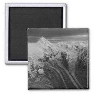 USA, Alaska, Denali National Park, Aerial view 3 Square Magnet