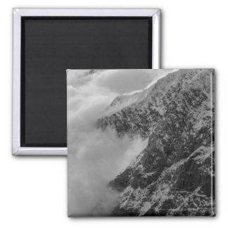 USA, Alaska, Denali National Park, Aerial view 4 Square Magnet
