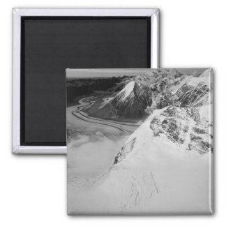USA, Alaska, Denali National Park, Aerial view Square Magnet