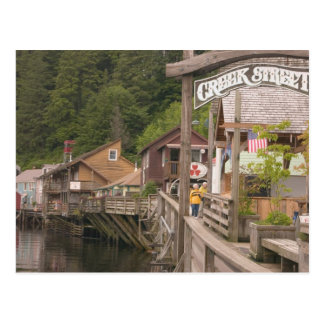 USA, Alaska, Ketchikan, Creek Street, downtown Postcard