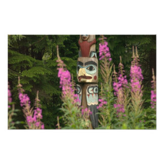 USA, Alaska, Ketchikan, Totem Bight State Photo Print