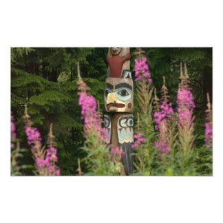 USA, Alaska, Ketchikan, Totem Bight State Photographic Print
