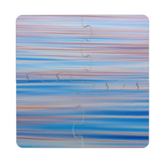 USA, Alaska. Water Abstract At Sunset Drink Coaster Puzzle