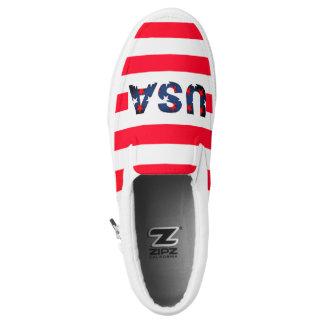 USA America Stars Red White Blue Flag Sneaker